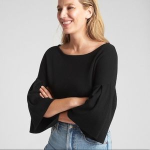NWT Ribbed Bell Sleeve Sweater in Silk-Cotton